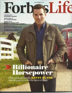 Forbes Life Billionaire Horsepower Kevin Plank Under Armour Founder