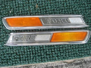 1972 Ford truck F700 hood emblems spears 1968 1969 1970 1971