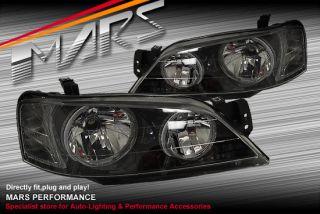 Black Angel Eyes Halo Headlights for Ford Falcon Ba BF