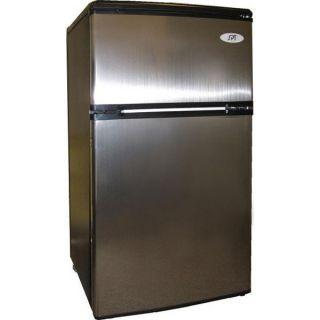 Stainless Mini Fridge Freezer Compact Food Beverage Ice Dorm