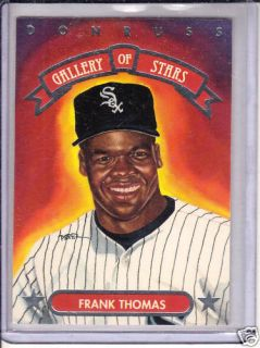 92 Donruss Gallery of Stars Frank Thomas White Sox