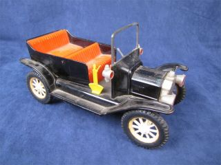 Vintage Tin Friction 1917 Model T Ford Toy Car Japan