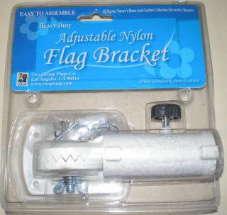 Heavy Duty Adjustable Nylon Flag Bracket with Windsock Pole Feature