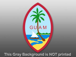 Guam Seal Sticker Decal Flag Symbol Island Bumper Car