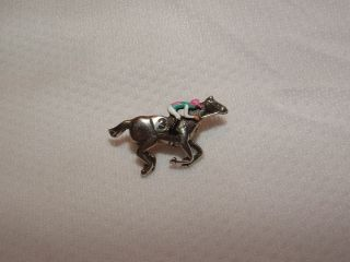 New Frankel UK Hand Painted Horse Racing Jockey Silks Pin 3 Last Race