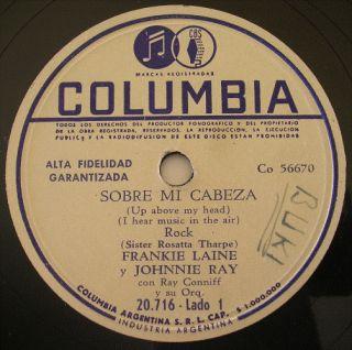 Frankie Laine Johnnie Ray 78 RPM Good Evening Friends