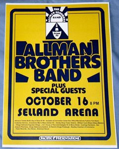 performers the allman brothers band venue selland arena fresno ca date