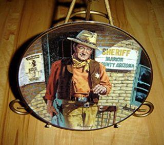 John Wayne AMERICAN LEGEND Franklin Mint Plate