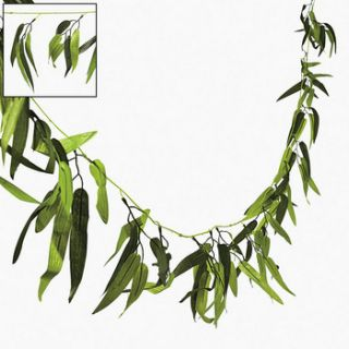 JUNGLE ZOO SAFARI LUAU BAMBOO LEAF GARLAND 9FT LONG UNIQUE DECORATION