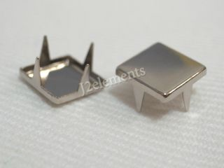 Silver Gold Plane Flat Square Studs Rock Spikes Spots Duty Jean