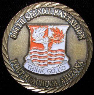 504th Signal Battalion Fort Huachuca Arizona Challenge Coin