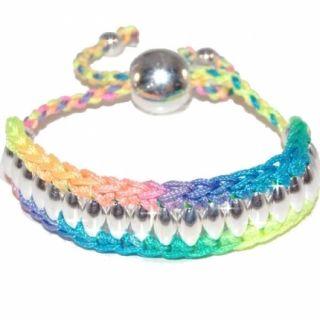 Bracelet Friendship Shamballa Curved Links Neon Friendship Bracelet
