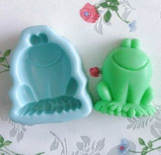 Frog Shape Silicon Mold Handmade Soap Candle Candy Cake Mold Also 1pc