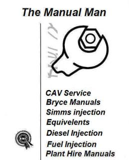 CAV Fuel Injection Pump BPE6C Parts Manual