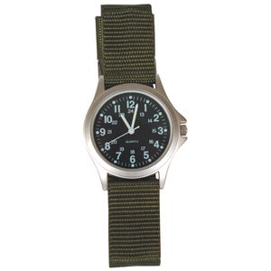 Fox Field Military Watch Olive Drab Strap Black Face 38 29 New