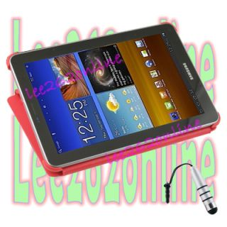 Red Book Smart Flip Case Stand for Samsung Galaxy Tab 7 7 P6800 P6810