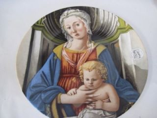 Annual Christmas Stamp Art Plate Madonna & Child by Fra Filippo Lippi