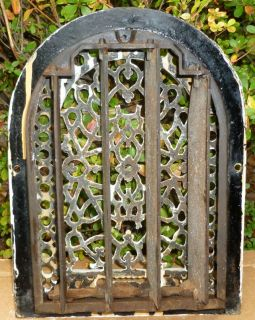 Antique Cast Iron Arch Top HEAT REGISTER Grate Vent MM&F Co.
