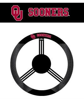 Oklahoma Sooners Mesh Suede Car Auto Steering Wheel Cover