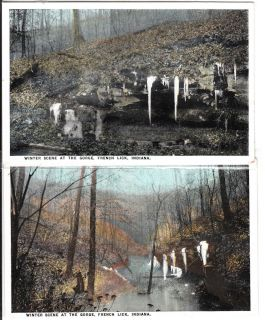 Vintage THE GORGE Winter Scene French Lick Orange County Indiana