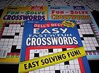 Dell Fun to Solve Easy Crosswords Puzzles Books Crossword New 2010