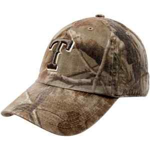 47 Brand Texas Rangers Real Tree Camo Franchise Fitted Hat