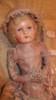 Antique Original Lavender Boudoir Doll Frances Circa 1920