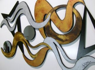 Funky Modern Abstract Wall Sculpture 43x24 A R Tarpley