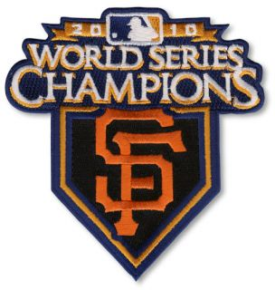 2010 WORLD SERIES SAN FRANCISCO GIANTS CHAMPIONS JERSEY SLEEVE MLB