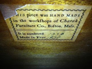 1930 Charak Furniture Antique Roll Top Desk