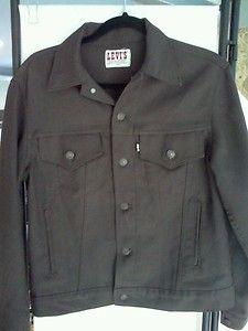 polyester trucker JACKET men 38R san francisco denim jacket style