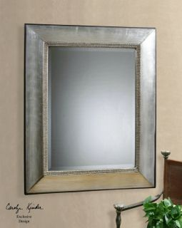 Fresno Large Silver Beveled Wall Mirror