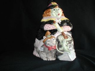 Fitz Floyd Cookie Jar Halloween Hoedown Witch 1992