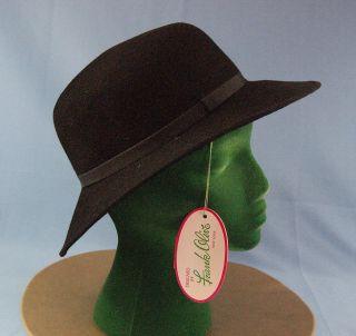Vintage Millinery Frank Olive Black Felt Hat  2020 NWT