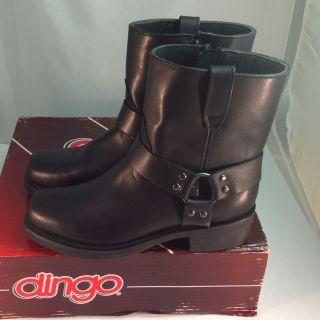 Mens Dingo Rev Up Motorcycle Boot Buckle Black Sz 9 5 D M Snoot Toe