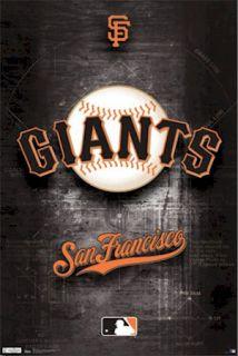 SAN FRANCISCO GIANTS POSTER ~ DIAMOND LOGO 22x34 MLB Major League