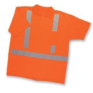 Neon Reflective Polo Shirt ANSI Compliant Discounted
