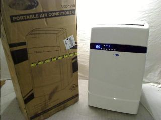 000 BTU Dual Hose Portable Air Conditioner Frost White Arc 12SD