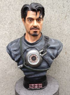Tony Stark Lifesize Bust Statue 1 1 Robert Downey Jr