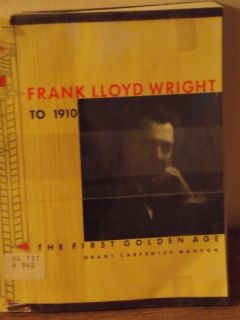 Frank Lloyd Wright to 1910 Illustrated Book