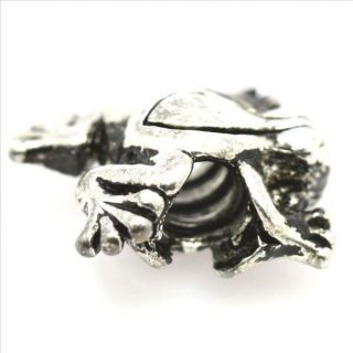 Frog European Sterling Silver Bead Charm Fit Bracelet Necklace D475C