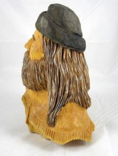 Frank Claeys Hand Carved Wood Mountain Man Sculpture Signed Figure