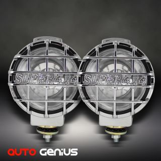 Off Road Fog Lights Chromed Stone Guard w Switch Complete Kit