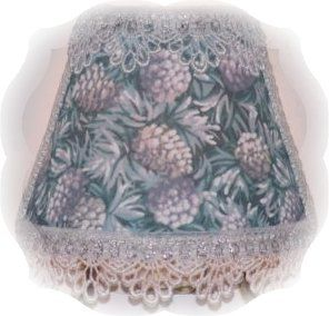 PINE CONE NIGHT LIGHT Silver Cone White Frost Sparkle