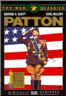 Patton (Brand New DVD) Fox War Classics   WWII Military Army General.