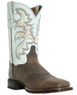 Mens Cowboy Boots Dan Post Franklin D M Broad Square Toe Brown DP2837