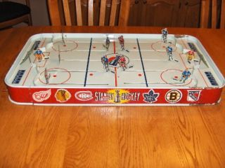 Toys 56 Stanley Cup Pro Old Tin Metal Table Top Hockey Game