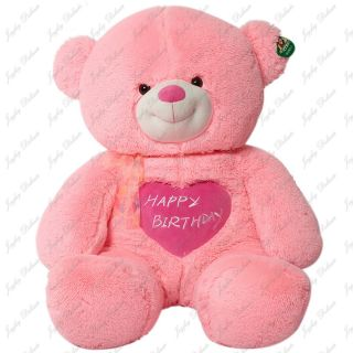 Giant 40 Teddy Bear Happy Birthday Heart Pink Stuffed