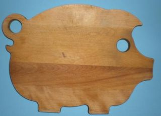 Farm Pig Solid Wood Kitchen Cutting Board Food Chopping Board