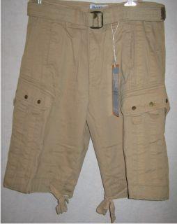 Mens Franky Max Khaki Cargo Shorts